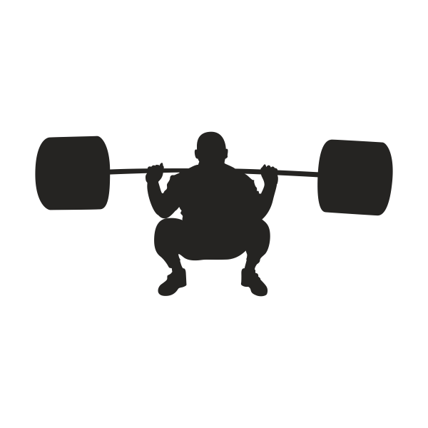 Weight clipart physical strength. Silhouette fitness olympic weightlifting