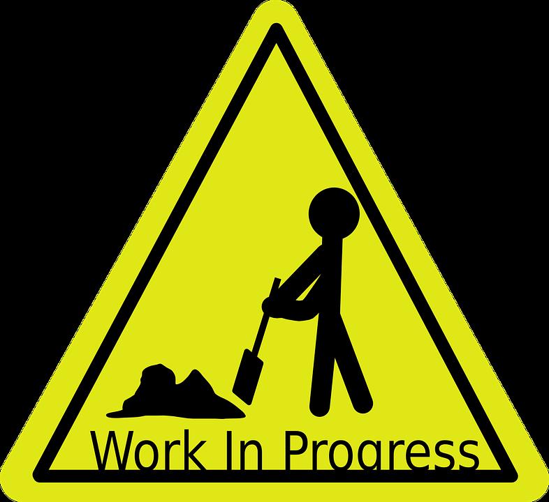 Work in progress access. Weight clipart pound