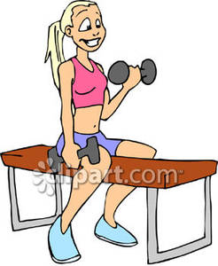 Weight clipart small. Woman lifting weights royalty