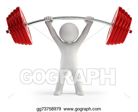 Weight clipart small. D people athlete lifting
