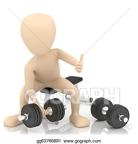 Drawing d person lifts. Weight clipart small