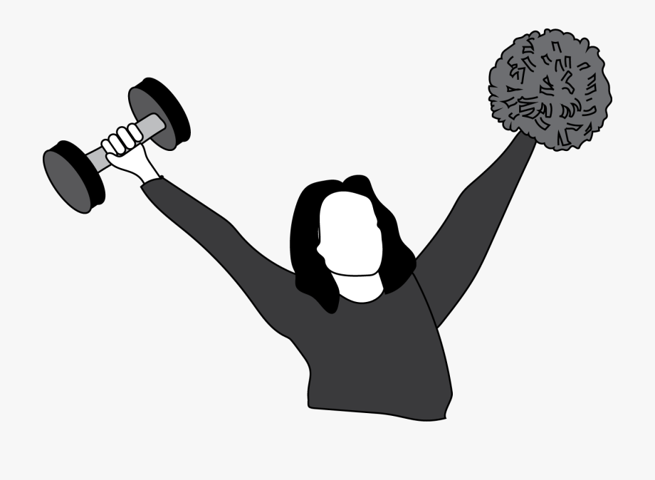 Weight clipart sport training. Cheerleading is a free