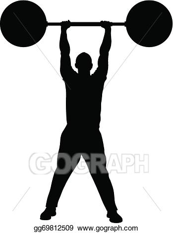 Weight clipart strenght. Vector illustration lifting strength