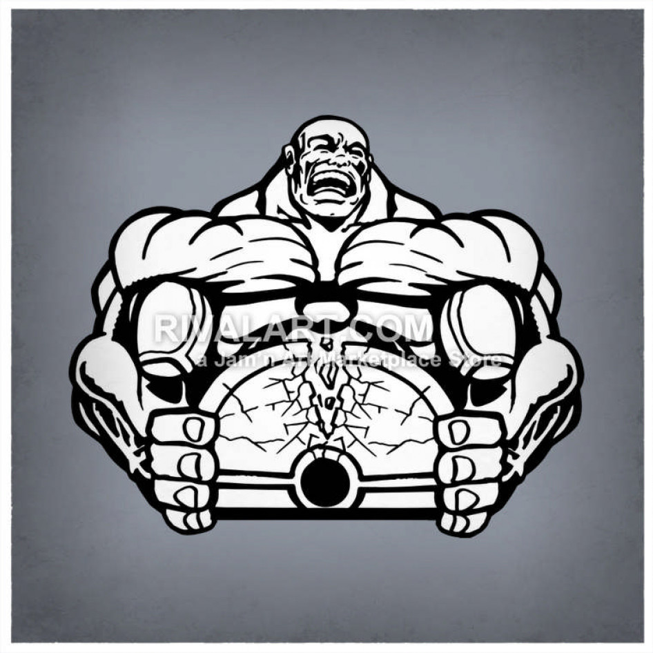 Weight clipart strong. Of man breaking weights