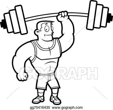 Weight clipart strong. Vector art lifting weights