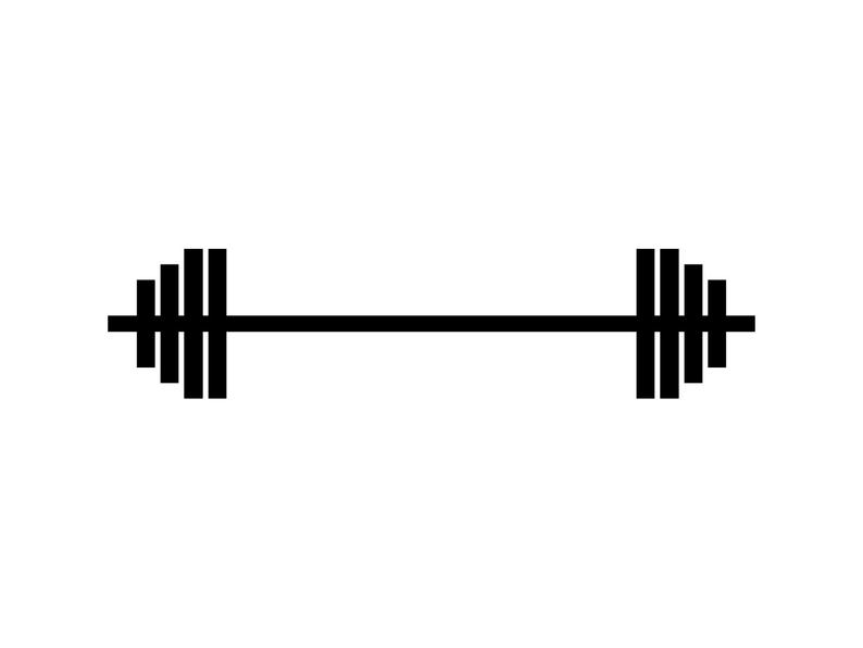 Barbell weights lifting silhouette. Weight clipart svg
