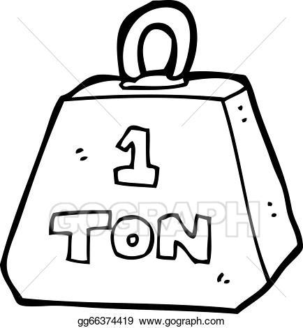 Eps vector cartoon one. Weight clipart ton