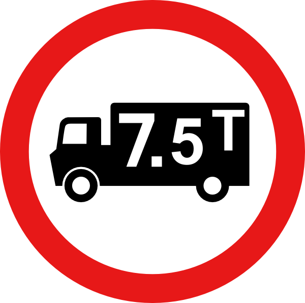 Weight clipart ton. Road sign clip art