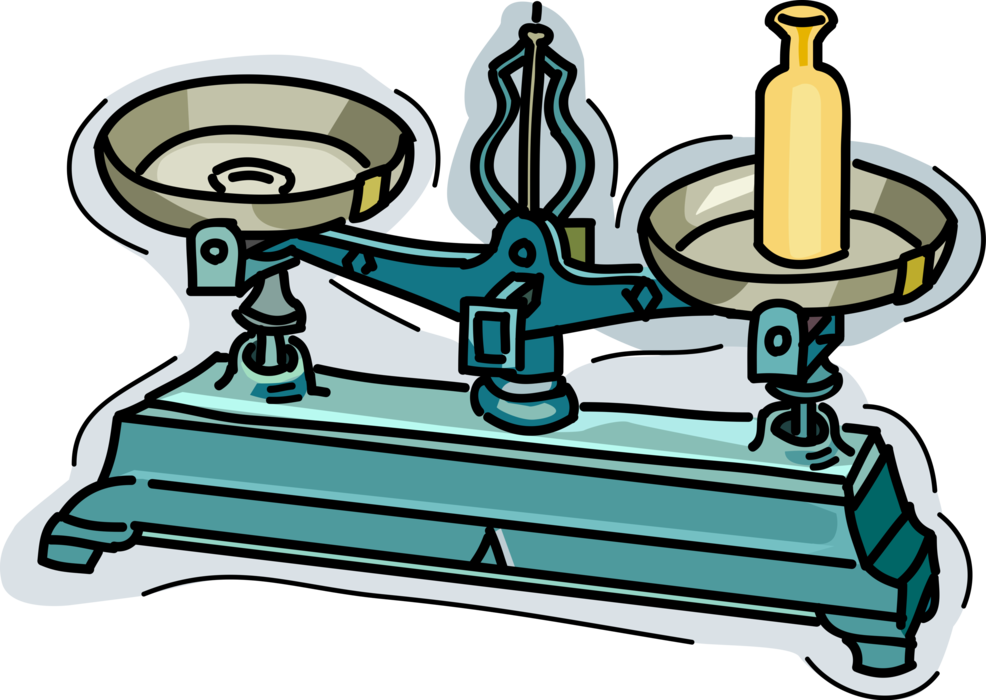 Balance scale measures vector. Weight clipart weight measure