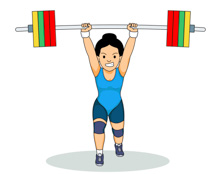 Sports free weightlifting to. Weight clipart strenght