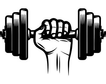 Barbell clipart svg. Weightlifting png etsy dumbbell