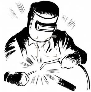 A black and white. Welding clipart