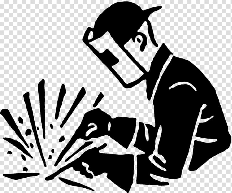 Welding clipart black and white. Arc welder others transparent