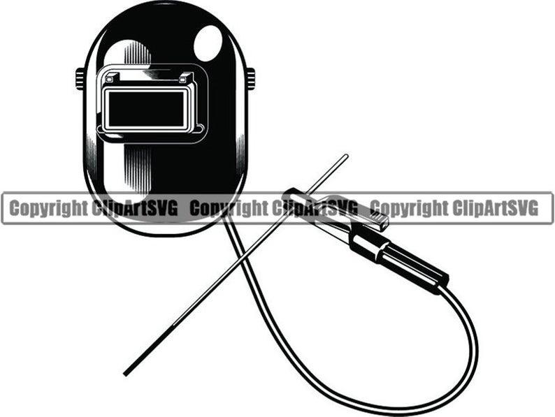 Logo mask weld welder. Welding clipart electrode holder