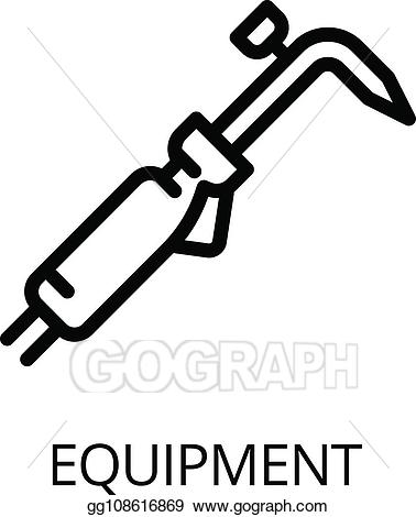 Vector illustration equipment icon. Welding clipart gas welding