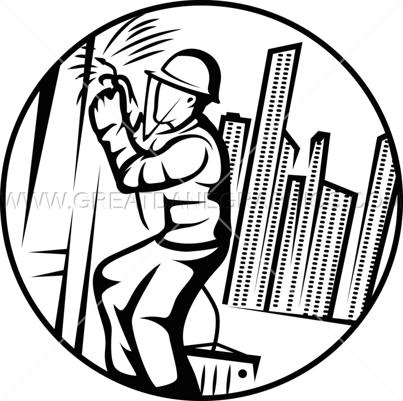 Welding clipart occupation. High rise welder production