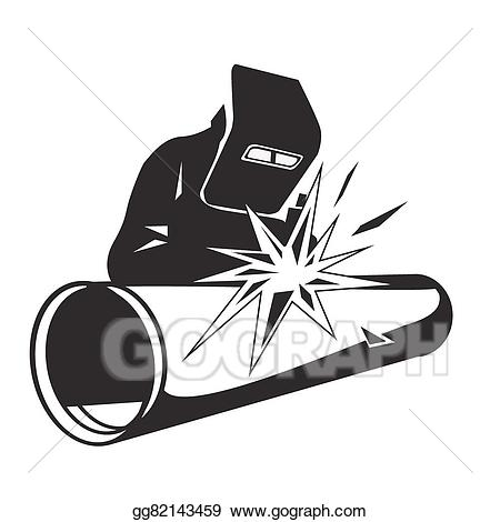 Welding clipart pipeline. Vector art welder pipe