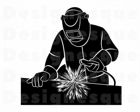 Svg welder files for. Welding clipart silhouette