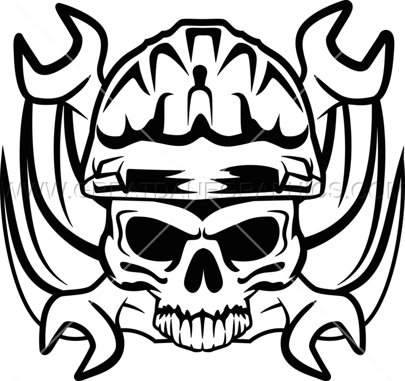 Welding clipart skull. Wrench production ready artwork