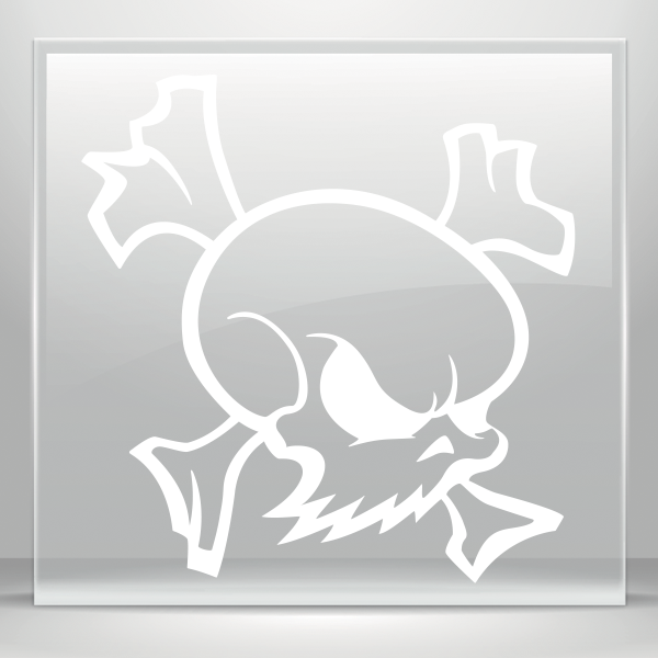 Simple color vinyl maskot. Welding clipart skull crossbones