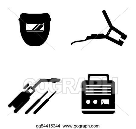 Welding clipart welding equipment. Eps vector set stock