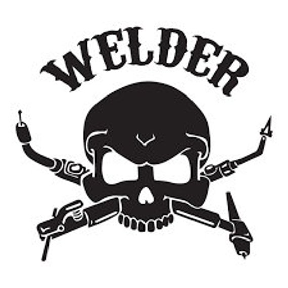 Welding clipart welding gun. Welder vinyl decal sticker