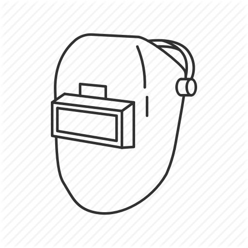 Welding clipart welding mask. Black circle drawing diagram