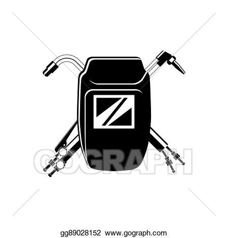 Vector illustration logo for. Welding clipart welding shield