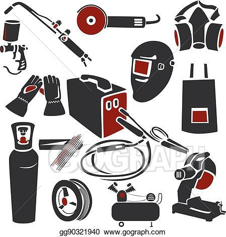 Vector and metal works. Welding clipart welding tool