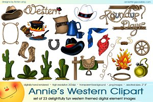 Illustrations creative market annies. Western clipart