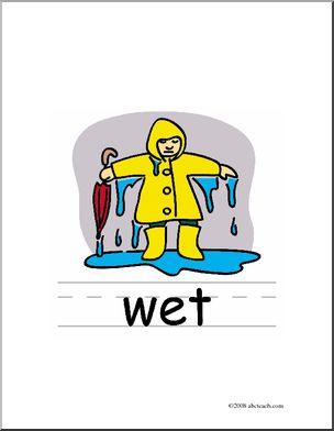 Clip art basic words. Wet clipart