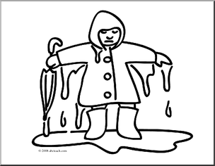 Clip art library . Wet clipart black and white