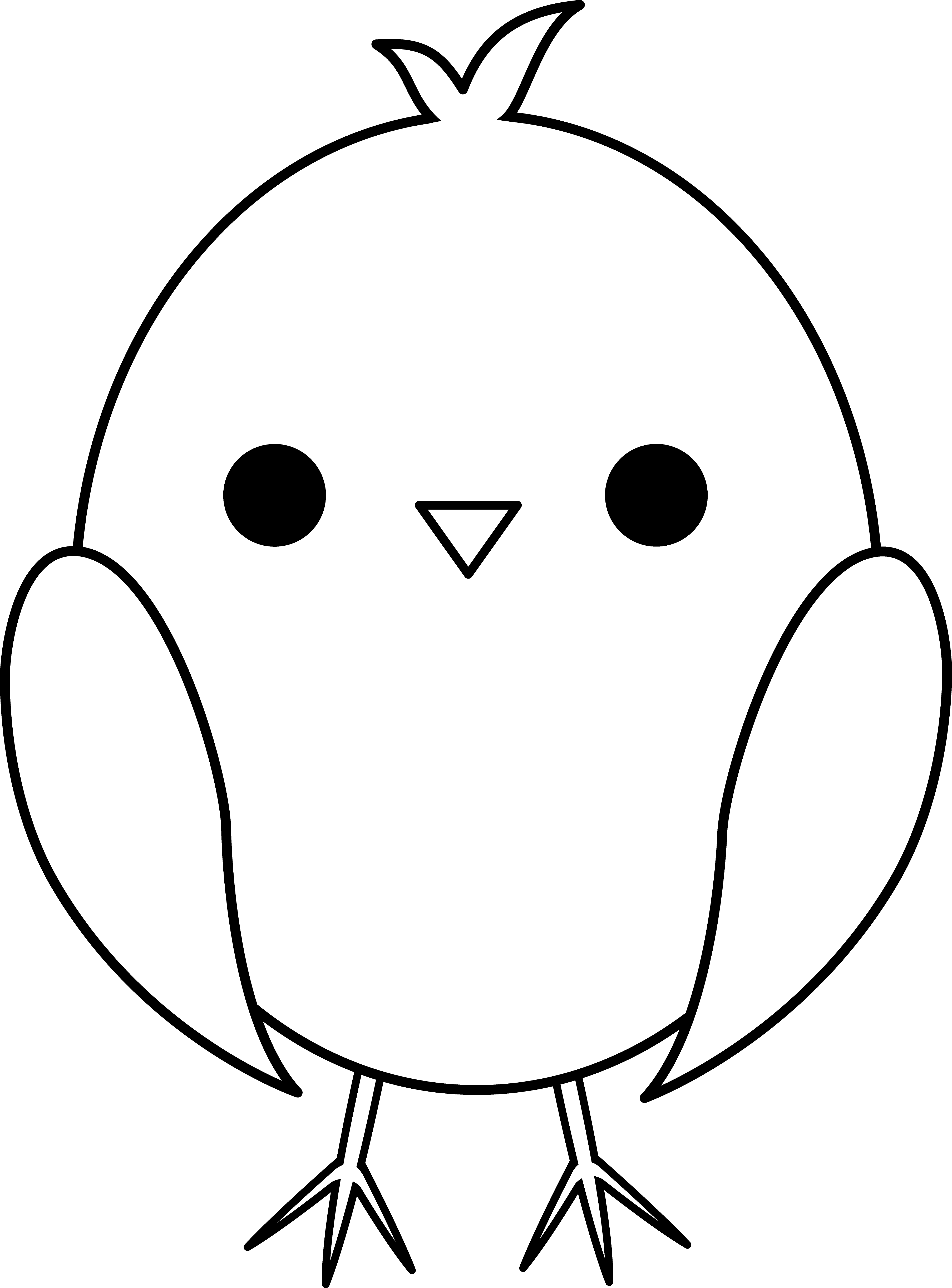 Wet clipart chick. Cute colorable baby paper