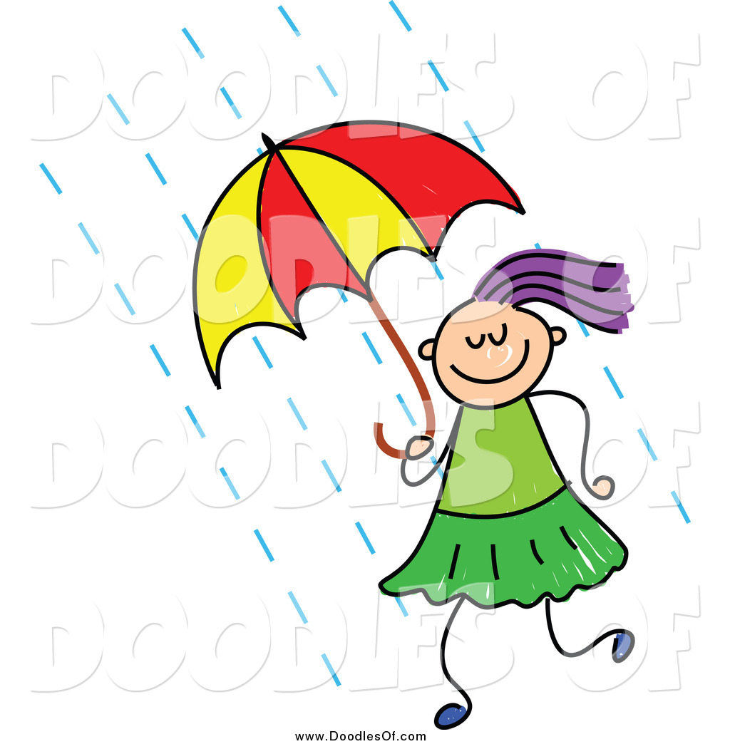 Wet clipart chick. Raining day free download