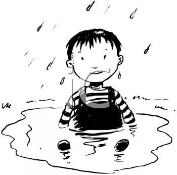 Wet clipart dirty child. Kid black and white