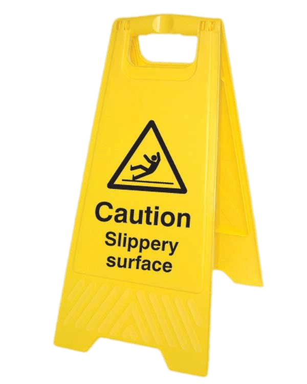 Caution surface board transparent. Wet clipart slippery floor