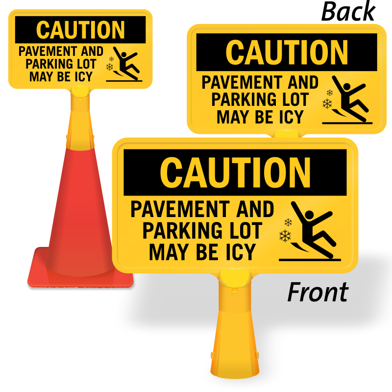 Wet clipart slippery floor. Ice alert signs watch