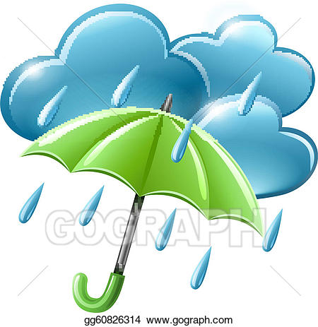 Vector stock rainy weather. Wet clipart soggy