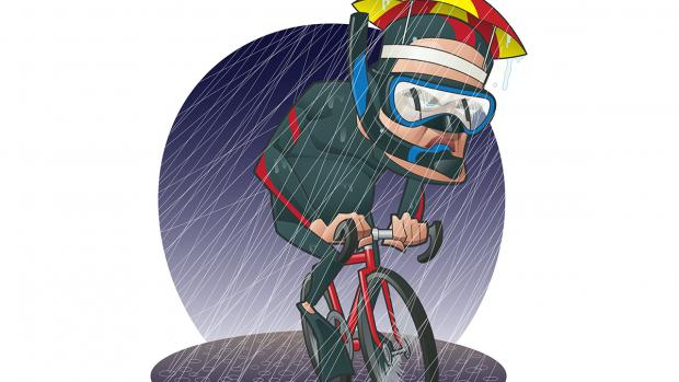 The good cyclist s. Wet clipart soggy
