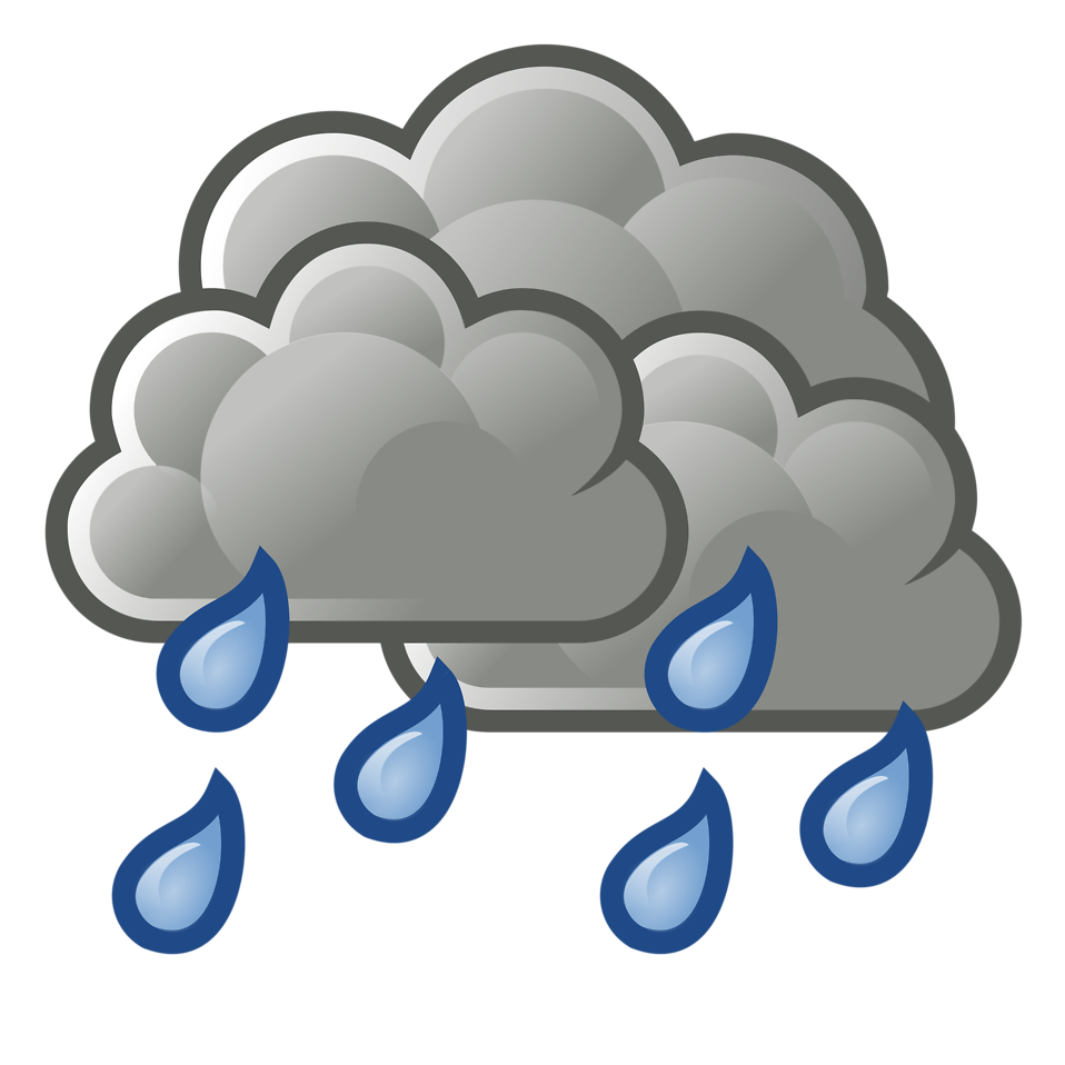 Rain cloud thunderstorm clip. Wet clipart transparent