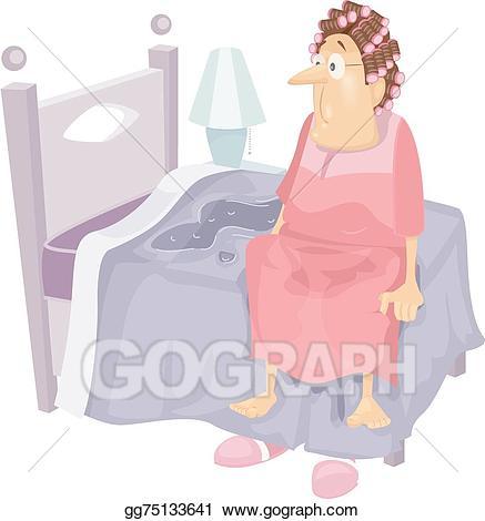 Wet clipart wet bed. Eps illustration senior incontinence