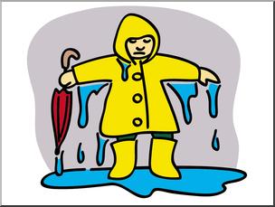 Clip art basic words. Wet clipart wet child