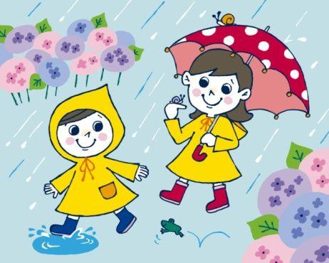 Wet clipart wet season. Rainy day cartoon drawing