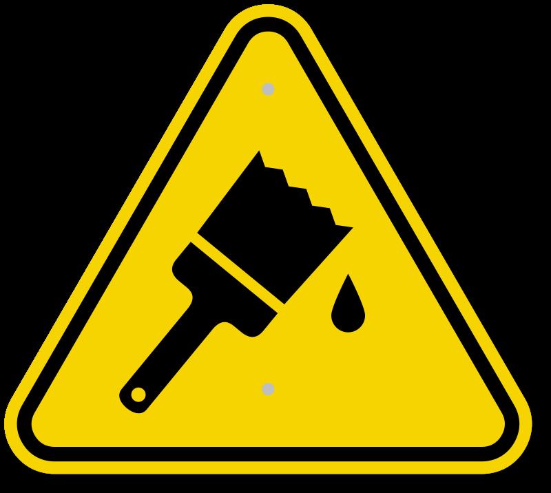 Cliparts zone paint signage. Wet clipart wet shoe