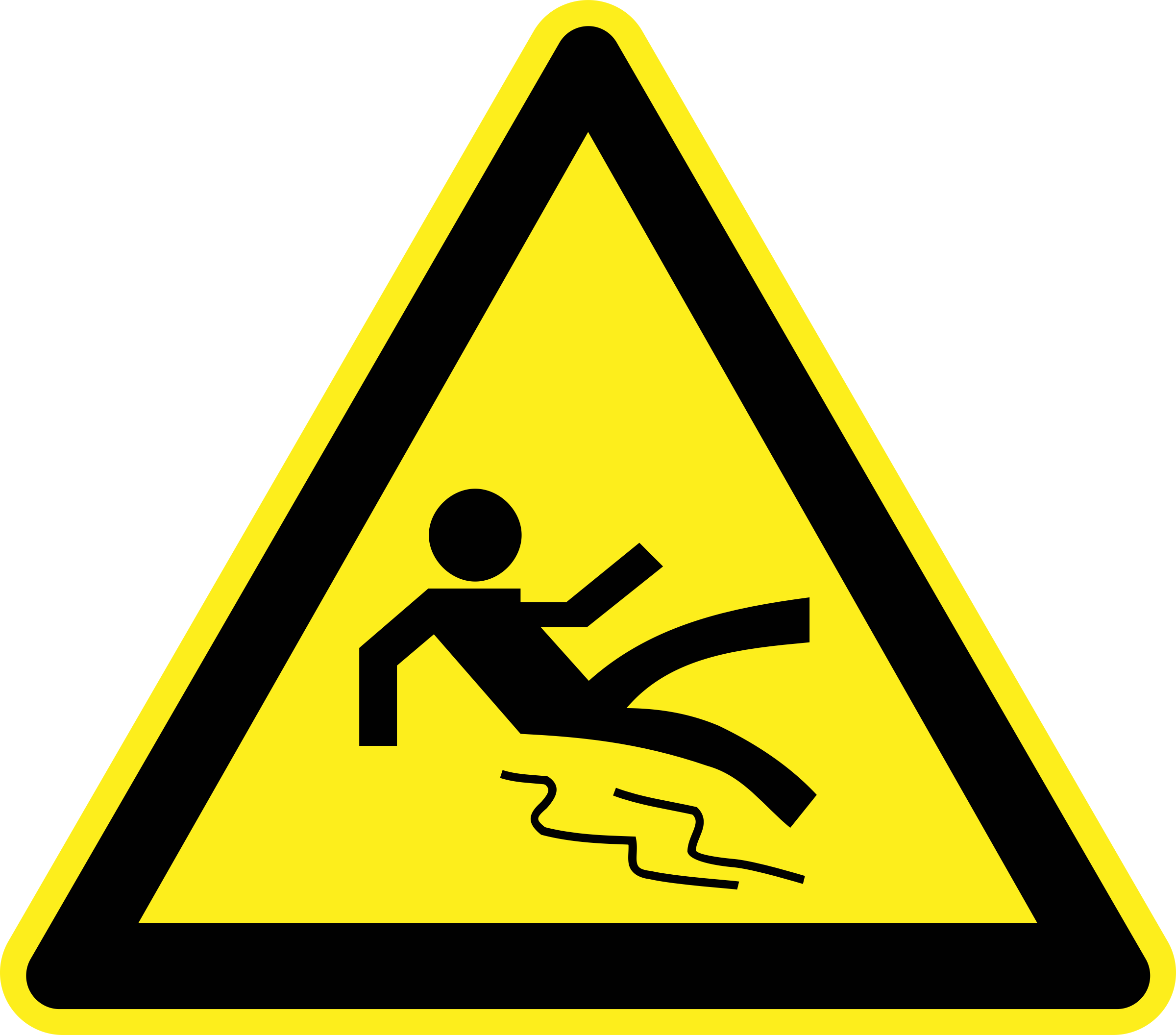 Wet clipart wet thing. And slippery warning sign
