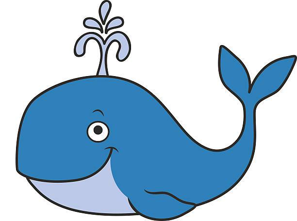Blue focus pictures of. Cartoon clipart whale