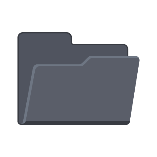 What opens png files. Open folder icon flat
