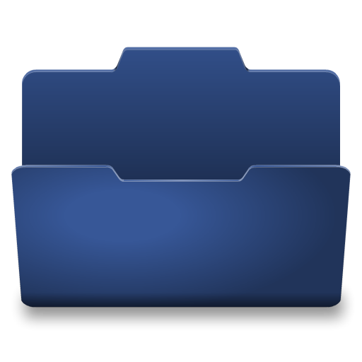 Blue open icon classy. What opens png files