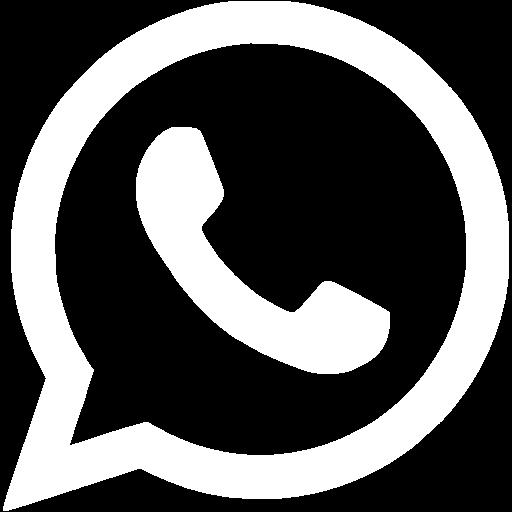 White free site logo. Whatsapp icon png