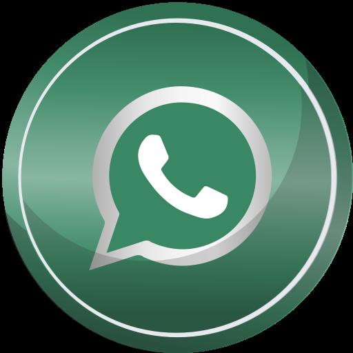 Whatsapp icon png. Social media round set